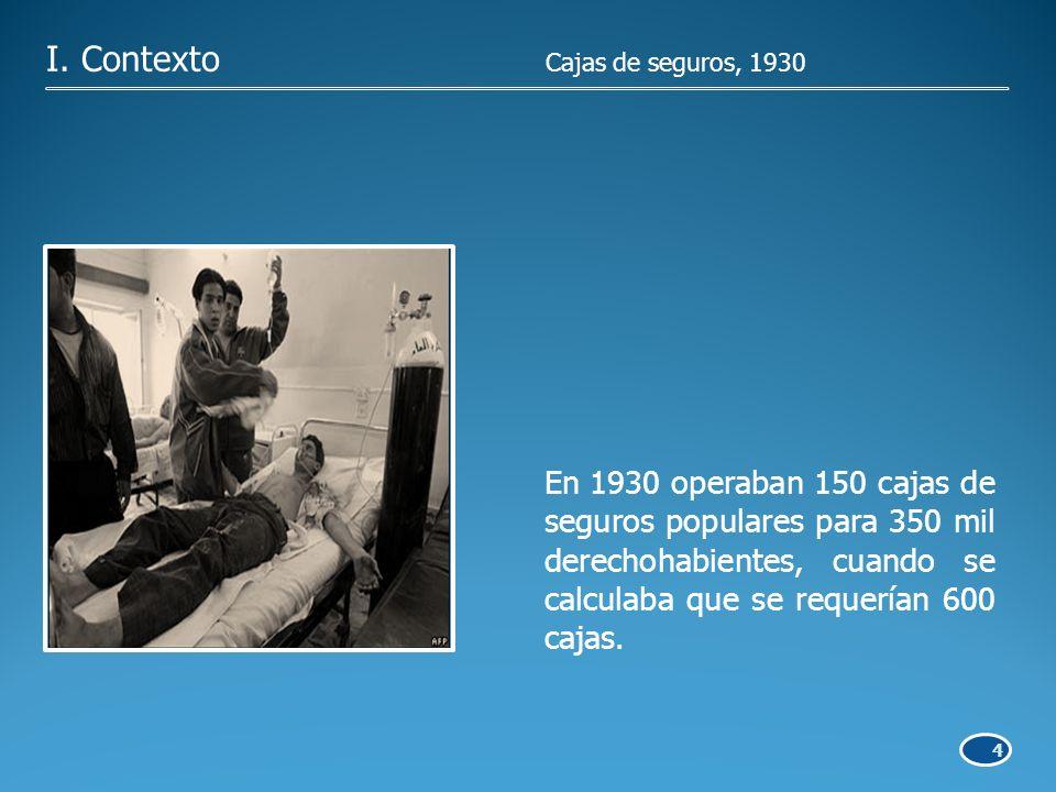 4 En 1930 operaban 150 cajas de seguros populares para 350 mil derechohabientes, cuando se calculaba que se requerían 600 cajas.