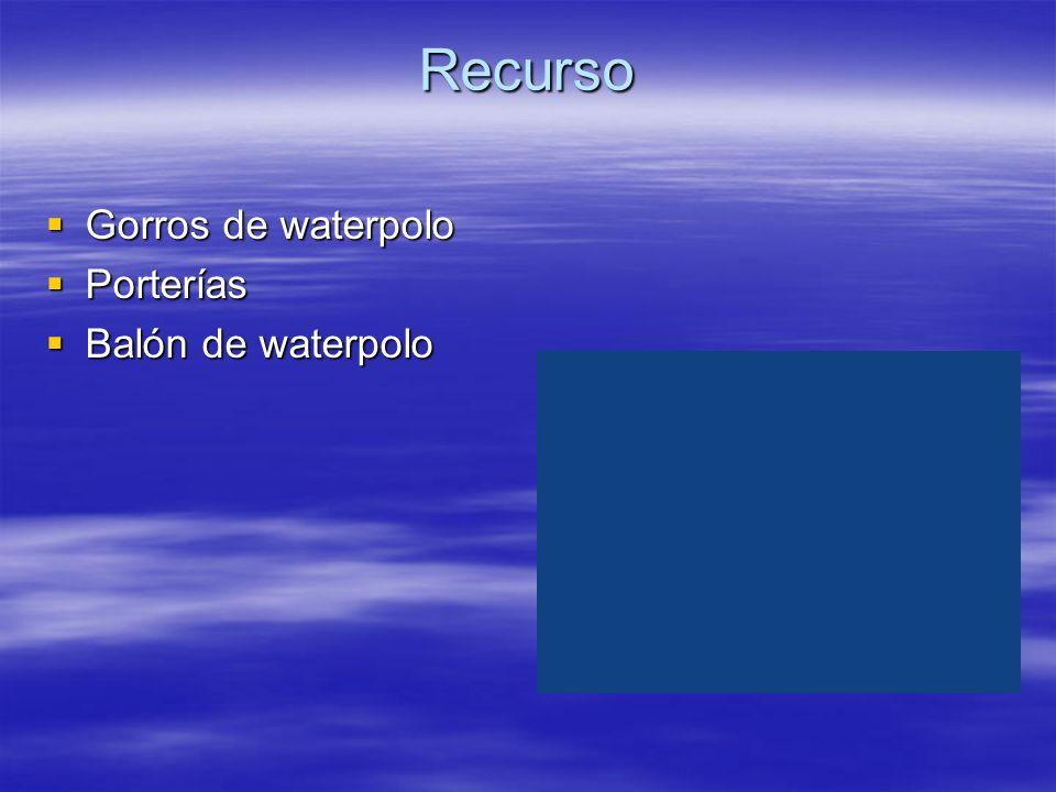 Recurso Gorros de waterpolo Gorros de waterpolo Porterías Porterías Balón de waterpolo Balón de waterpolo