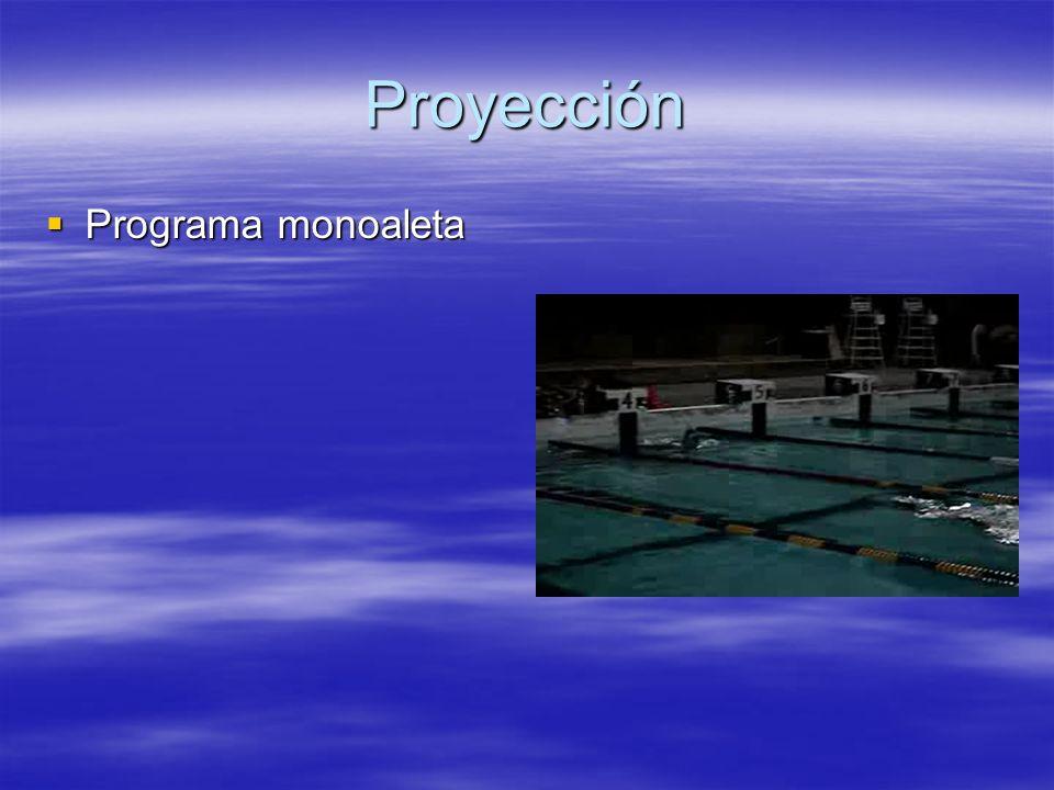 Proyección Programa monoaleta Programa monoaleta