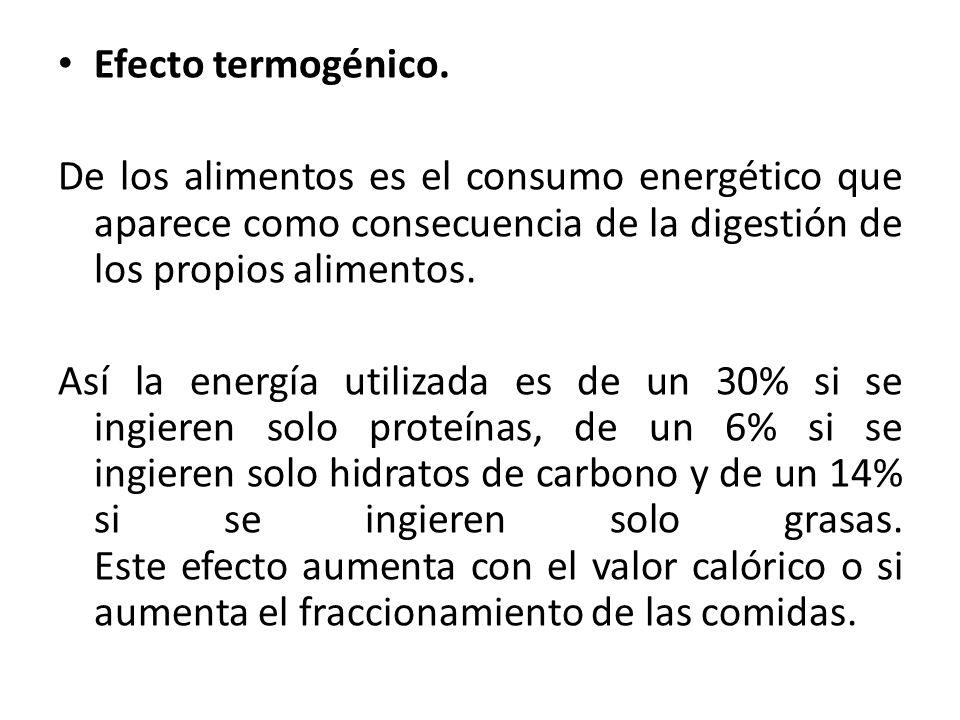 Efecto termogénico.