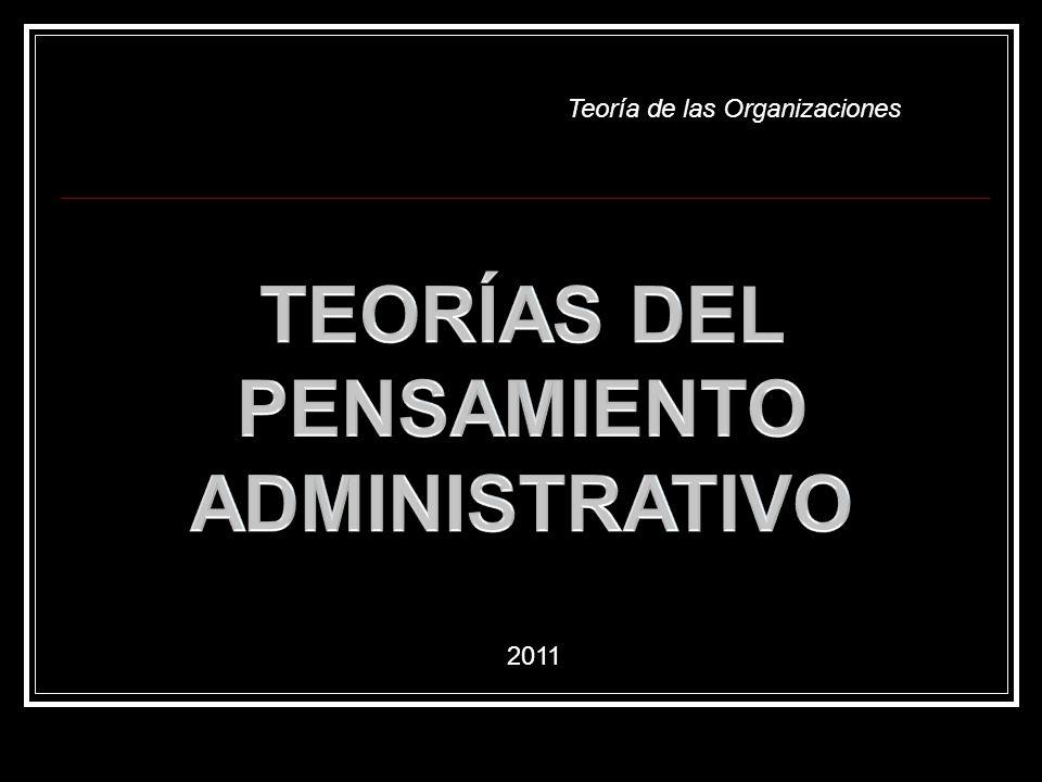 Teoría de las Organizaciones 2011