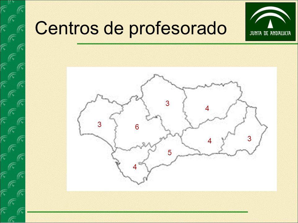 Centros de profesorado 3 5 3 3 4 4 6 4