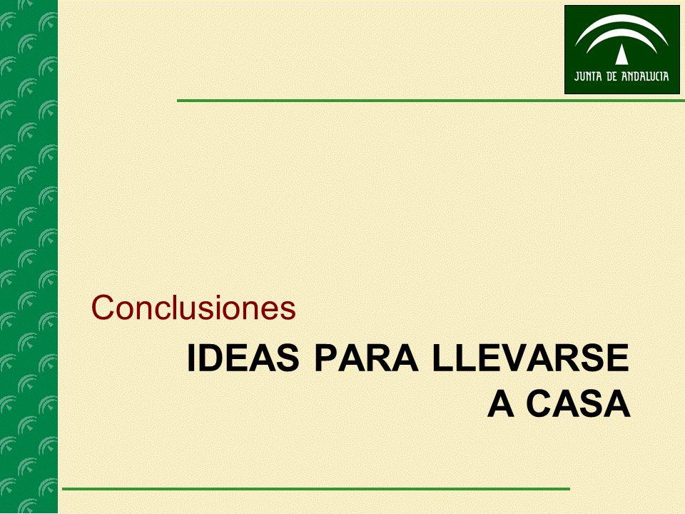IDEAS PARA LLEVARSE A CASA Conclusiones