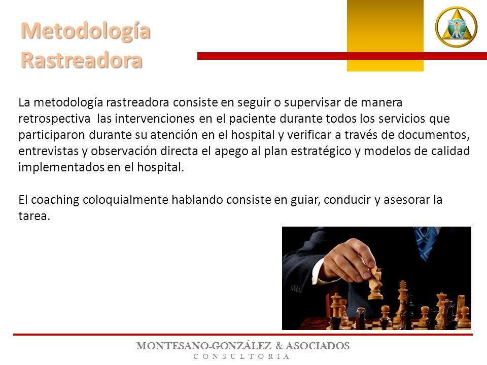 MONTESANO-GONZÁLEZ & ASOCIADOS CONSULTORIA La metodología rastreadora consiste en seguir o supervisar de manera retrospectiva las intervenciones en el