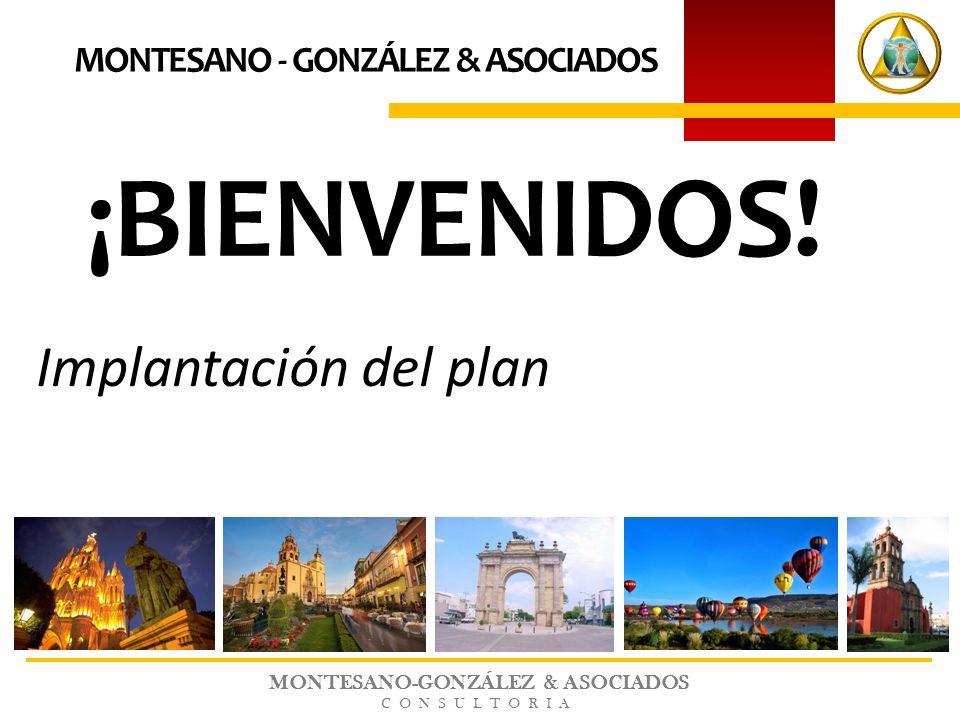 MONTESANO-GONZÁLEZ & ASOCIADOS CONSULTORIA ¡BIENVENIDOS! MONTESANO - GONZÁLEZ & ASOCIADOS Implantación del plan