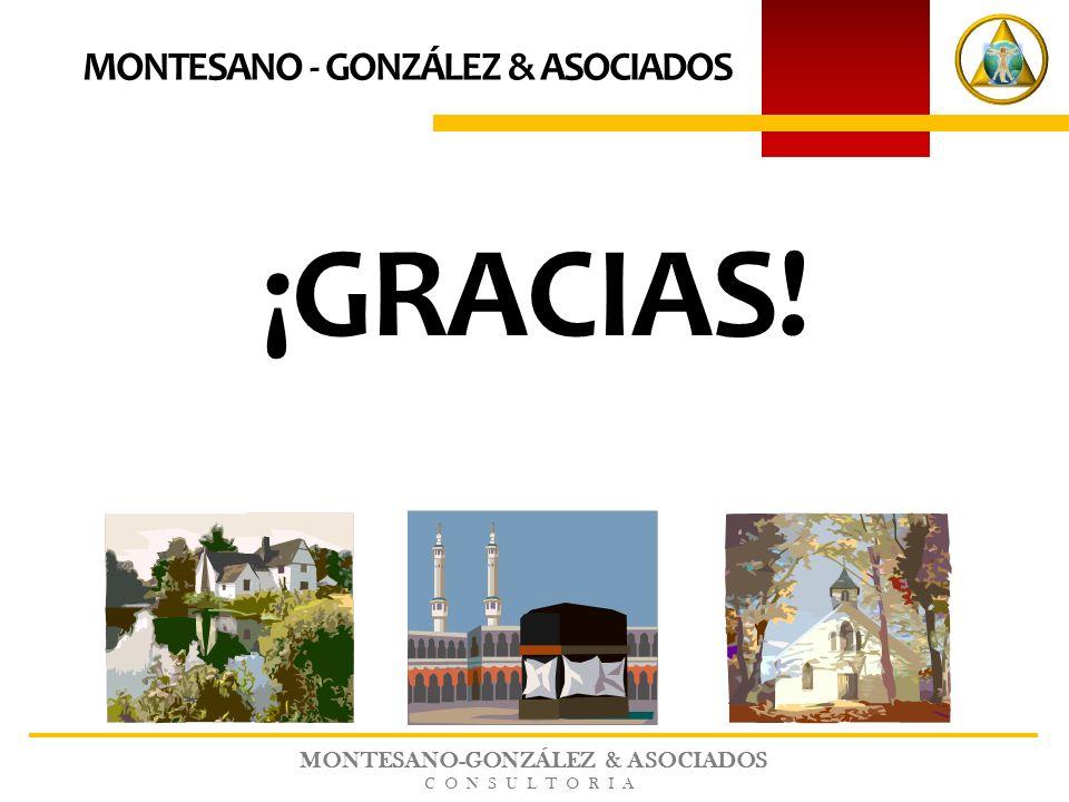 MONTESANO-GONZÁLEZ & ASOCIADOS CONSULTORIA ¡GRACIAS! MONTESANO - GONZÁLEZ & ASOCIADOS