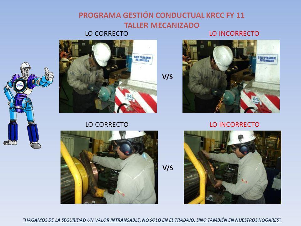 HAGAMOS DE LA SEGURIDAD UN VALOR INTRANSABLE, NO SOLO EN EL TRABAJO, SINO TAMBIÉN EN NUESTROS HOGARES. PROGRAMA GESTIÓN CONDUCTUAL KRCC FY 11 TALLER M