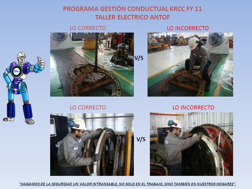 PROGRAMA GESTIÓN CONDUCTUAL KRCC FY 11 TALLER HIDRAULICO ANTOF.