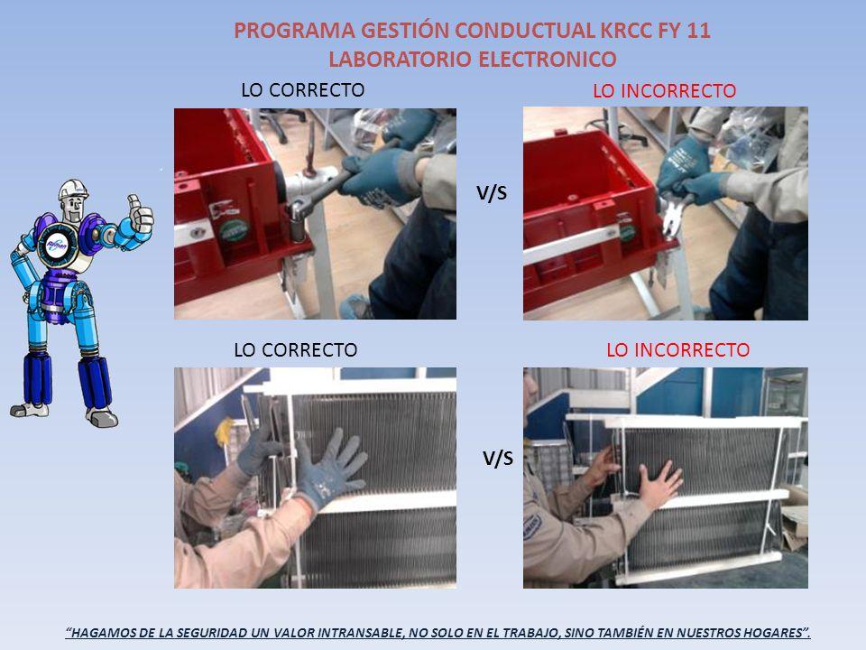 HAGAMOS DE LA SEGURIDAD UN VALOR INTRANSABLE, NO SOLO EN EL TRABAJO, SINO TAMBIÉN EN NUESTROS HOGARES. PROGRAMA GESTIÓN CONDUCTUAL KRCC FY 11 LABORATO