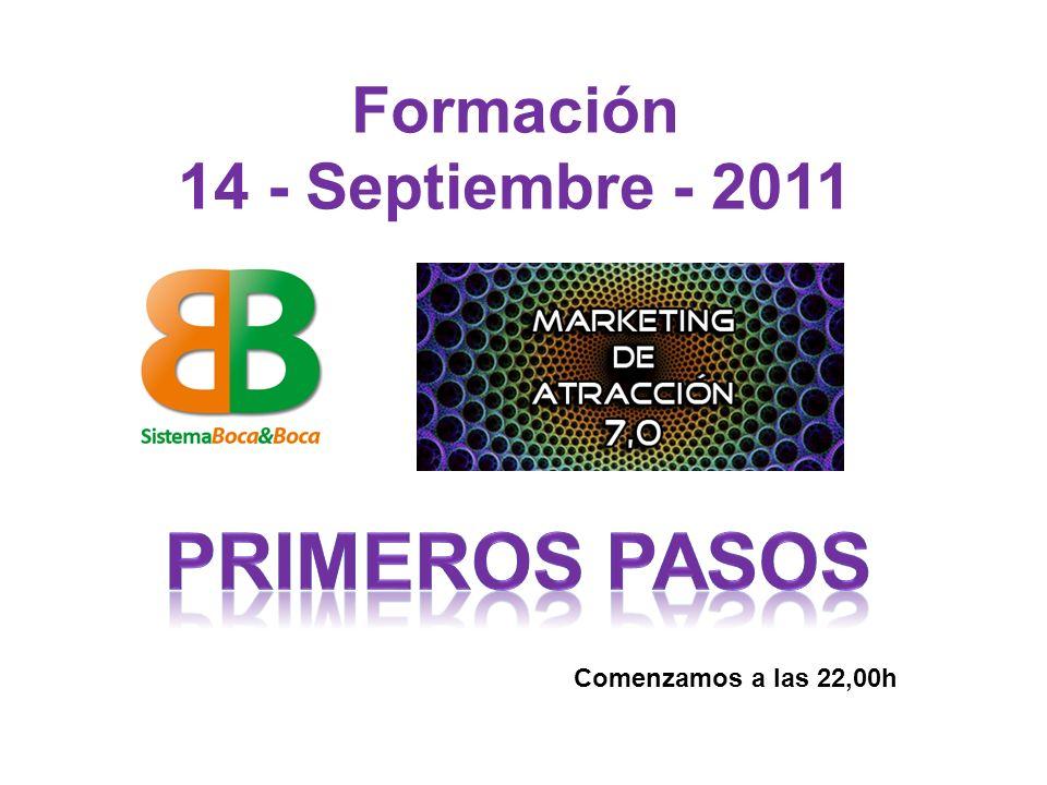 Formación 14 - Septiembre - 2011 Comenzamos a las 22,00h