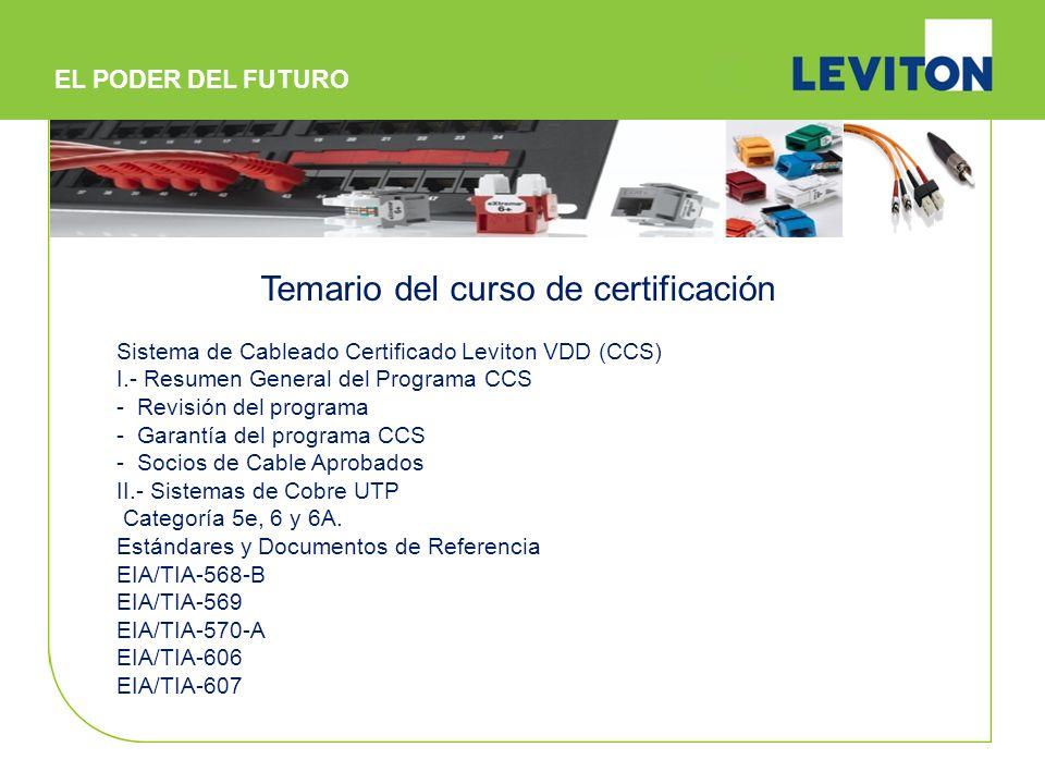 Sistema de Cableado Certificado Leviton VDD (CCS) I.- Resumen General del Programa CCS - Revisión del programa - Garantía del programa CCS - Socios de