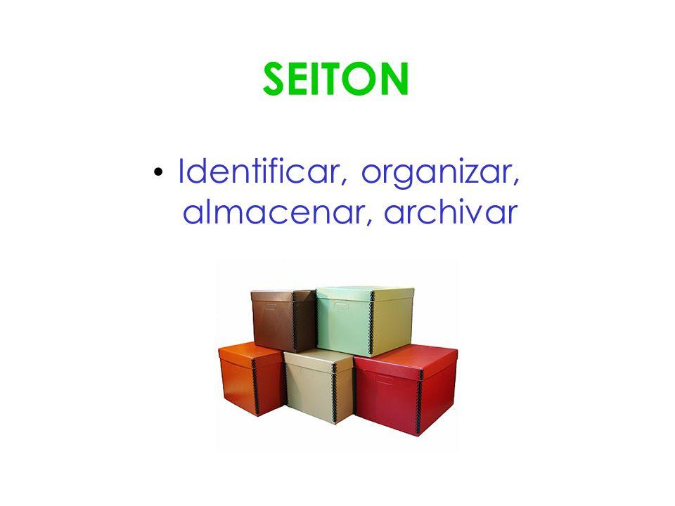 SEITON Identificar, organizar, almacenar, archivar