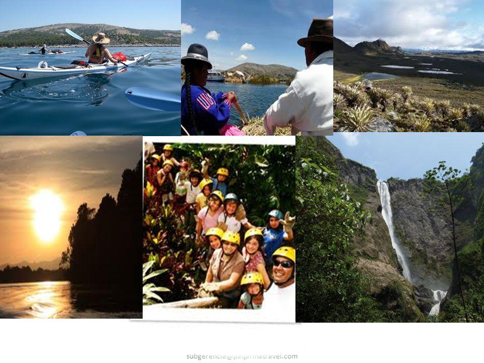 Paqarina Travel E.U Registro Nacional de Turismo 7044 Correo Eletrônico : subgerencia@paqarinatravel.com