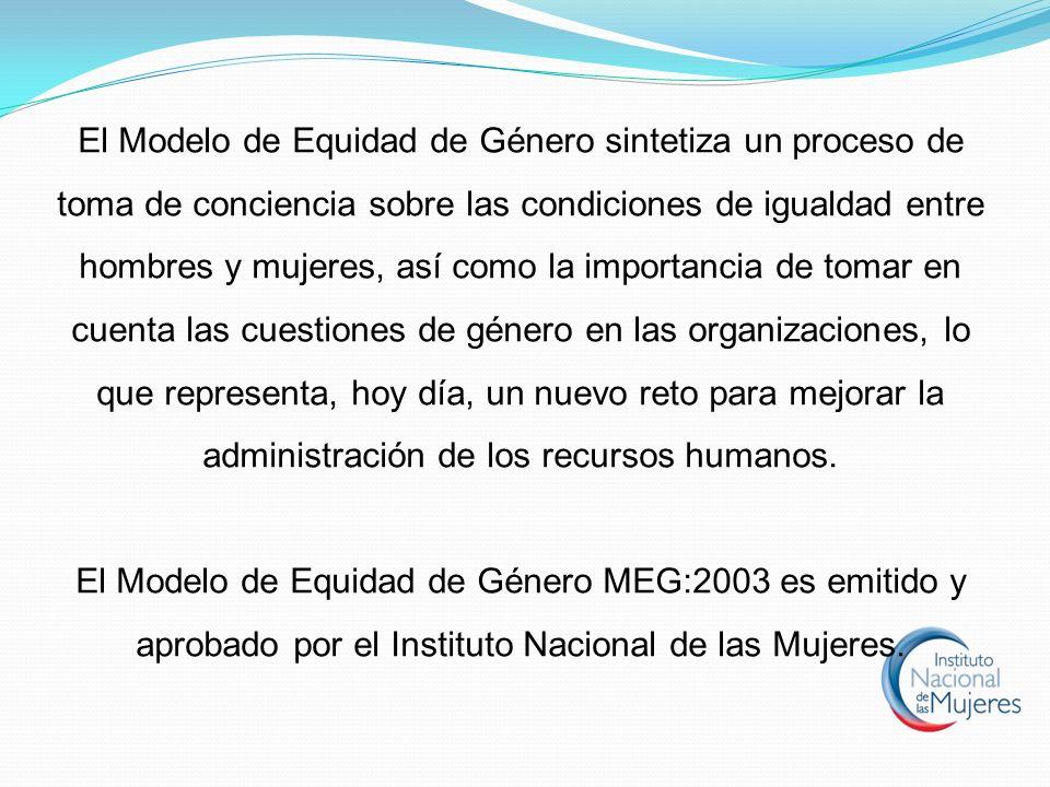 El Modelo de Equidad de Género sintetiza un proceso de toma de conciencia sobre las condiciones de igualdad entre hombres y mujeres, así como la impor