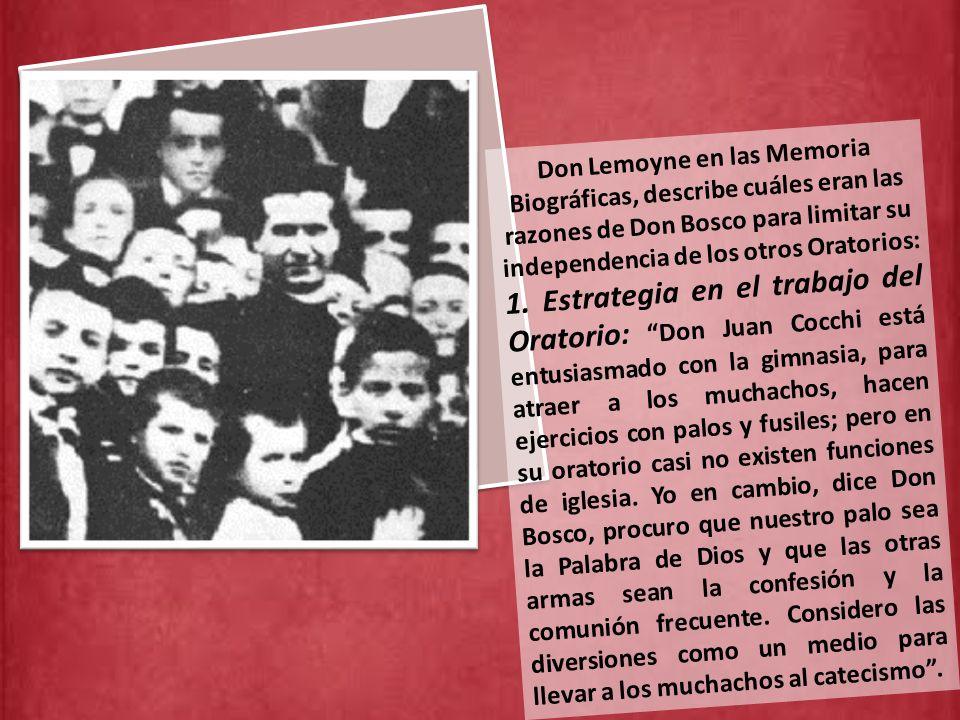 Don Bosco se encontró así en una situación comprometida con los sacerdotes más patriotas que trabajaban en la obra del Oratorio, como Don Cocchi y Don P.