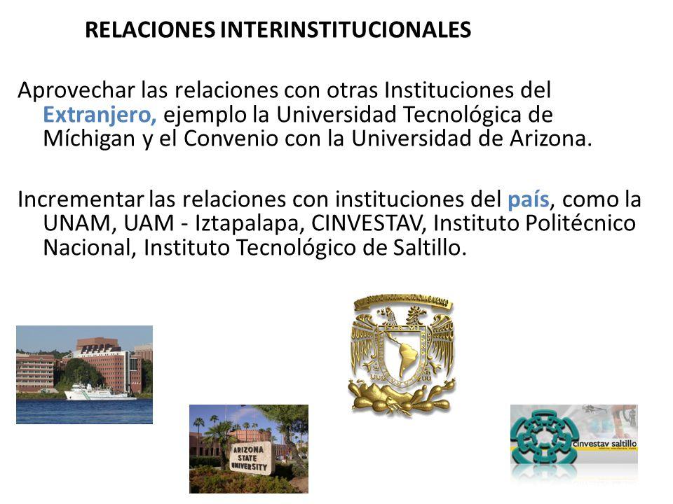 Trabajar conjuntamente a través de convenios con áreas relacionadas en las instituciones regionales: UTH, ITH, ITSON, CESUES.