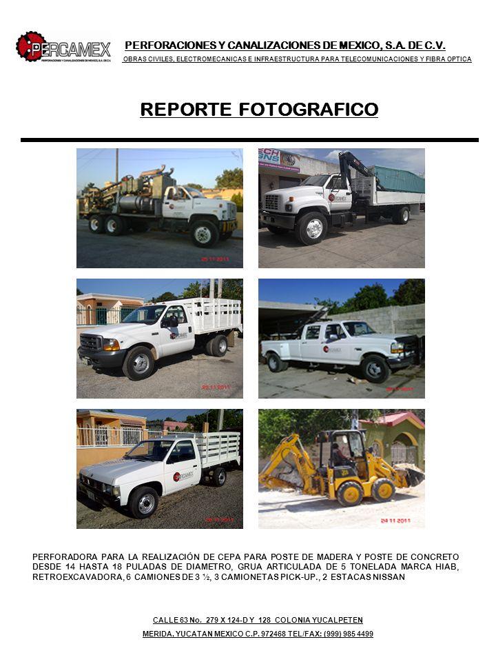 PERFORACIONES Y CANALIZACIONES DE MEXICO, S.A. DE C.V. OBRAS CIVILES, ELECTROMECANICAS E INFRAESTRUCTURA PARA TELECOMUNICACIONES Y FIBRA OPTICA REPORT