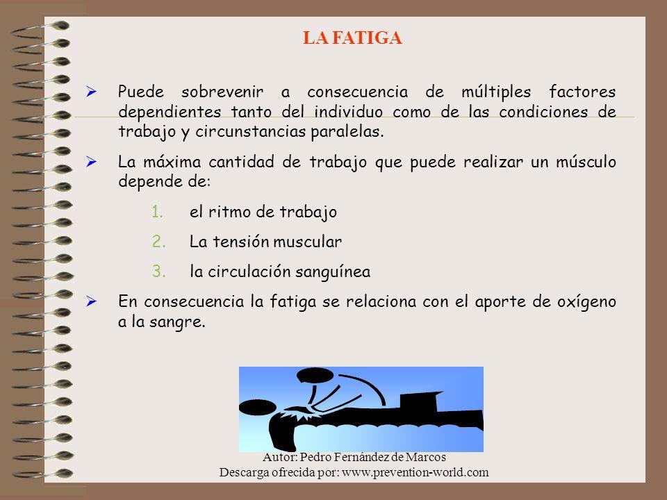 Autor: Pedro Fernández de Marcos Descarga ofrecida por: www.prevention-world.com EXIGENCIAS TEMPORALES Relaciona la obtención de un rendimiento acordado y el llevar a cabo un ritmo para obtener dicho objetivo.