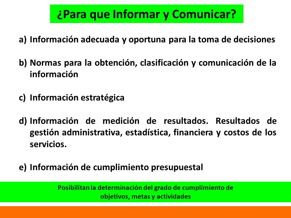 ¿Para que Informar y Comunicar.
