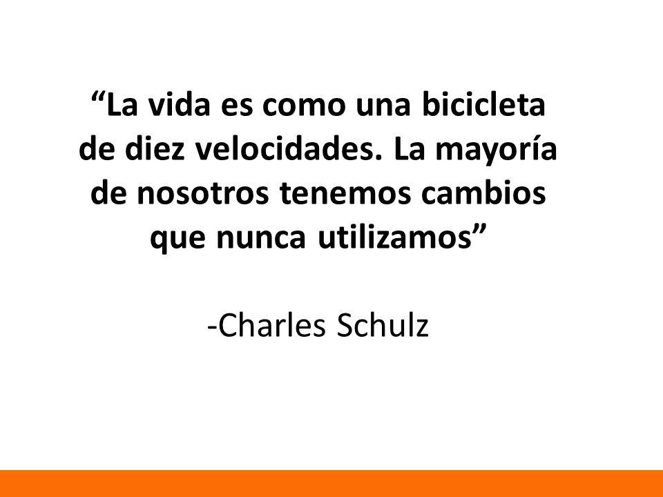 La vida es como una bicicleta de diez velocidades.