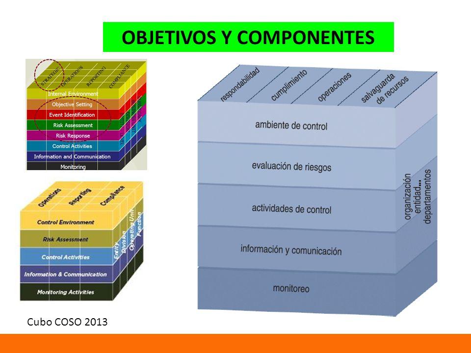 OBJETIVOS Y COMPONENTES Cubo COSO 2013