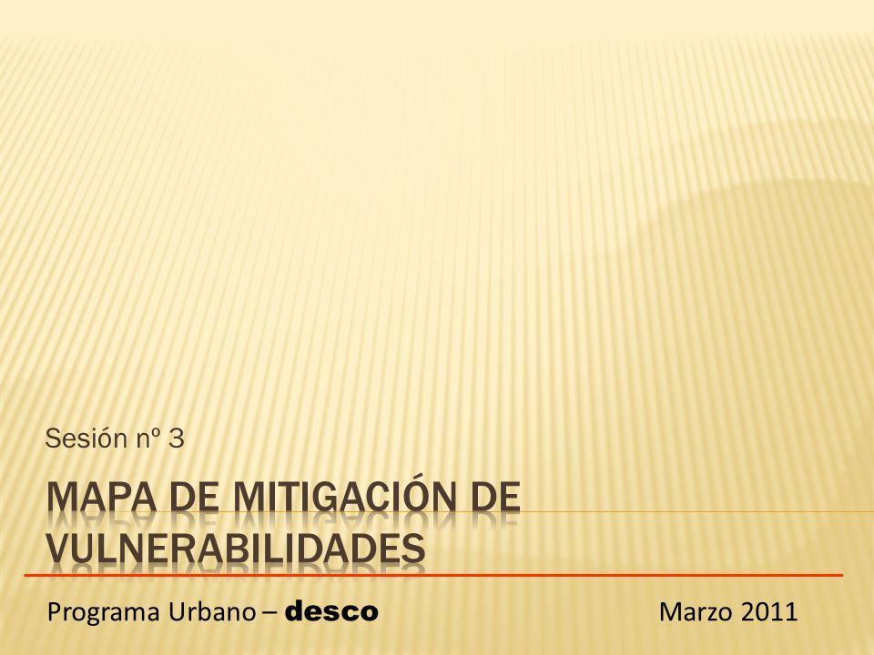 Sesión nº 3 Programa Urbano – desco Marzo 2011