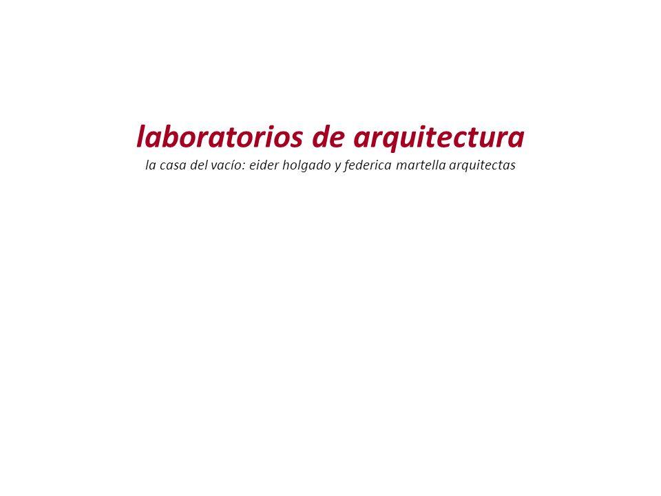 laboratorios de arquitectura la casa del vacío: eider holgado y federica martella arquitectas
