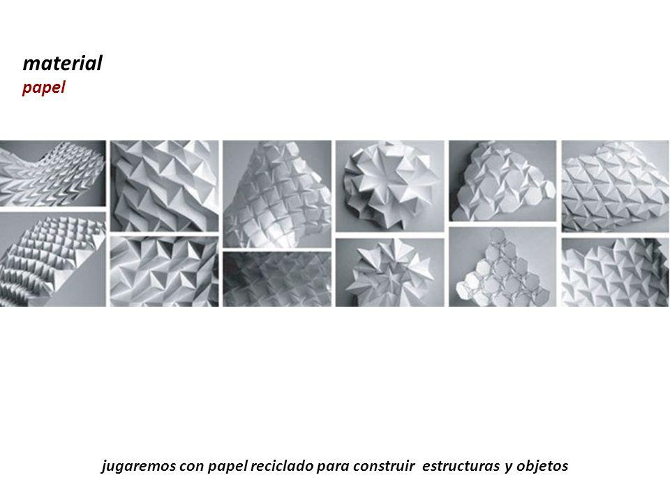 jugaremos con papel reciclado para construir estructuras y objetos material papel