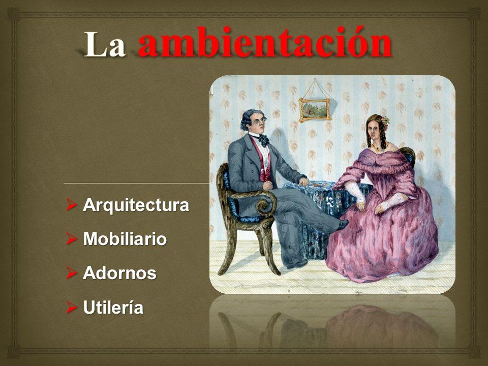 Arquitectura Arquitectura Mobiliario Mobiliario Adornos Adornos Utilería Utilería