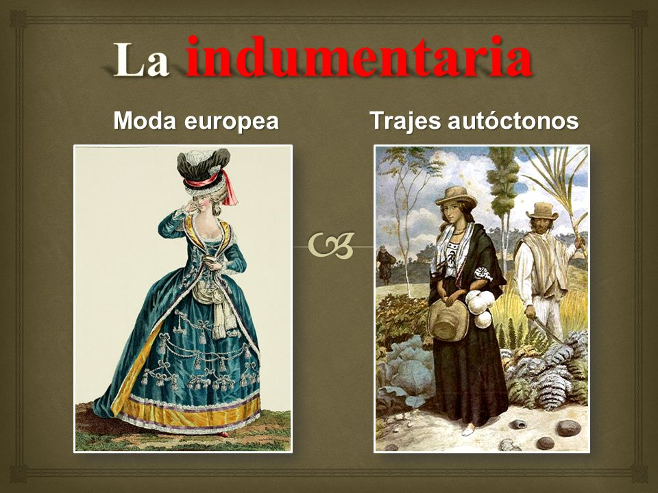 Moda europea Trajes autóctonos