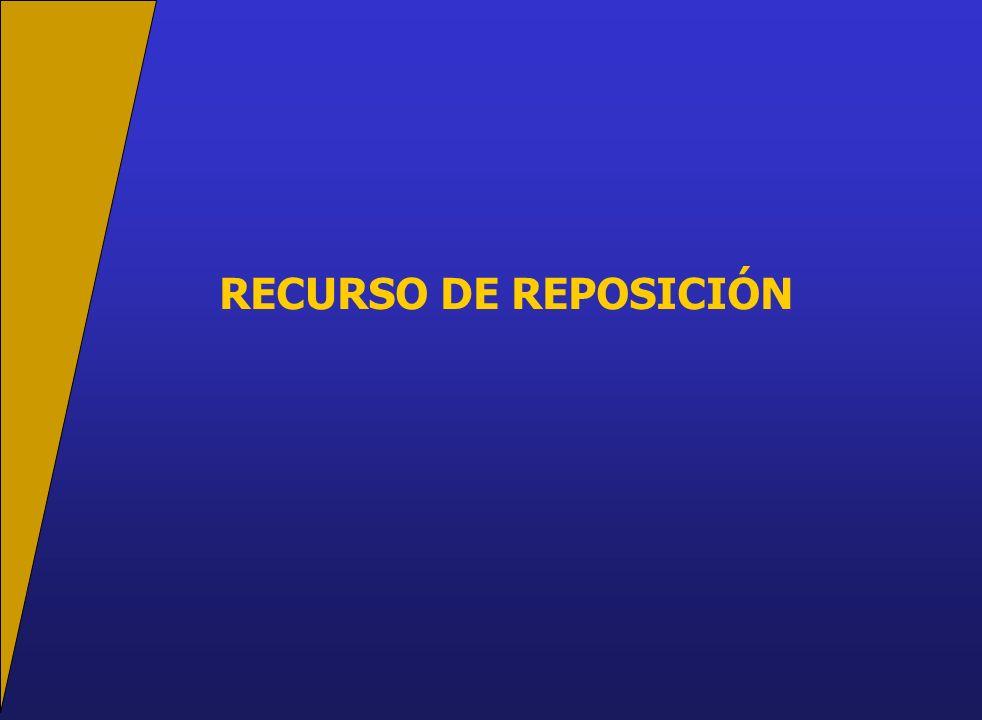 RECURSO DE REPOSICIÓN