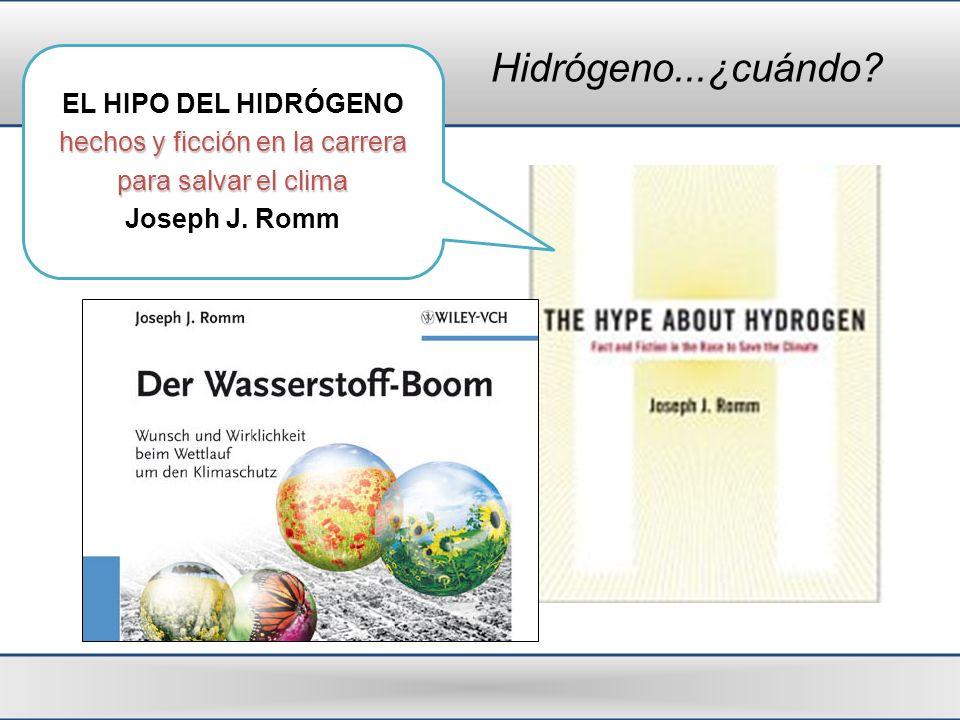 Hidrógeno...¿cuándo? EL HIPO DEL HIDRÓGENO hechos y ficción en la carrera para salvar el clima Joseph J. Romm