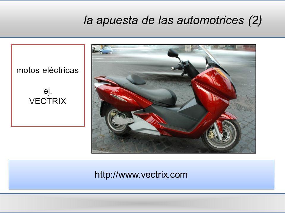 la apuesta de las automotrices (2) motos eléctricas ej. VECTRIX http://www.vectrix.com