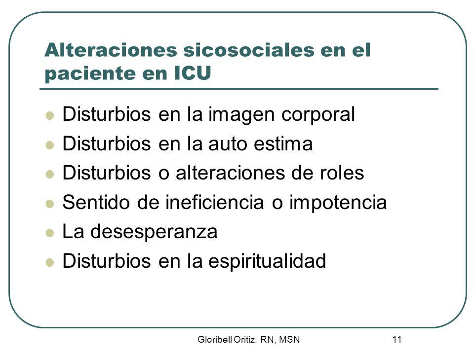 Gloribell Oritiz, RN, MSN 12 Disturbios en la imagen corporal Es un cuadro mental que el individuo tiene de su cuerpo y su funcionamiento.