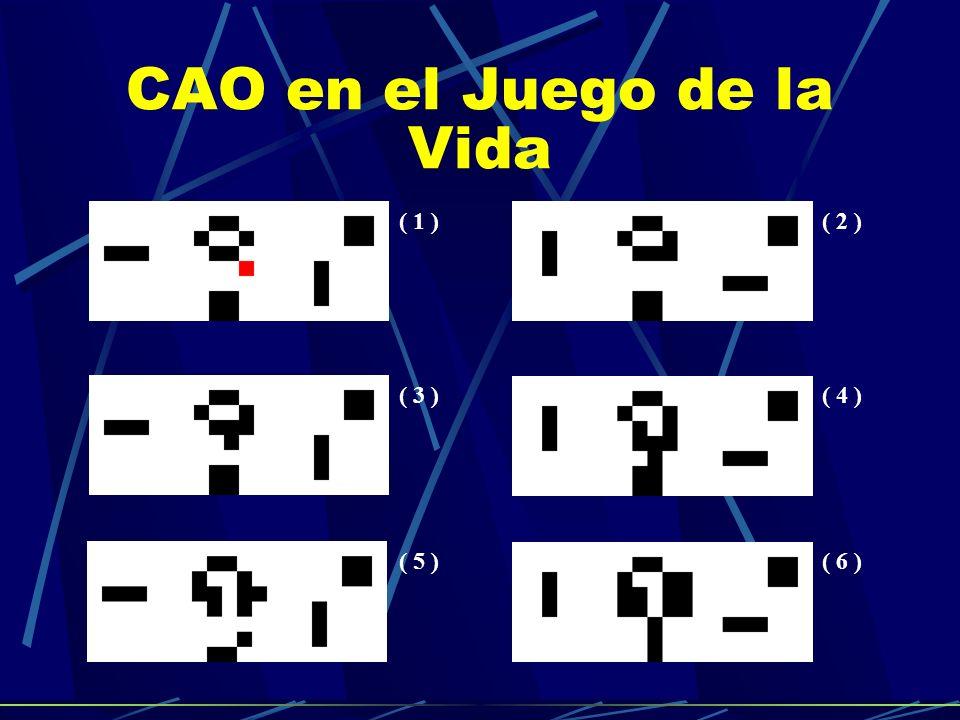 CAO en el Juego de la Vida ( 1 )( 2 ) ( 3 )( 4 ) ( 5 )( 6 )