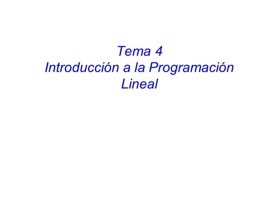 Tema 4 Introducción a la Programación Lineal