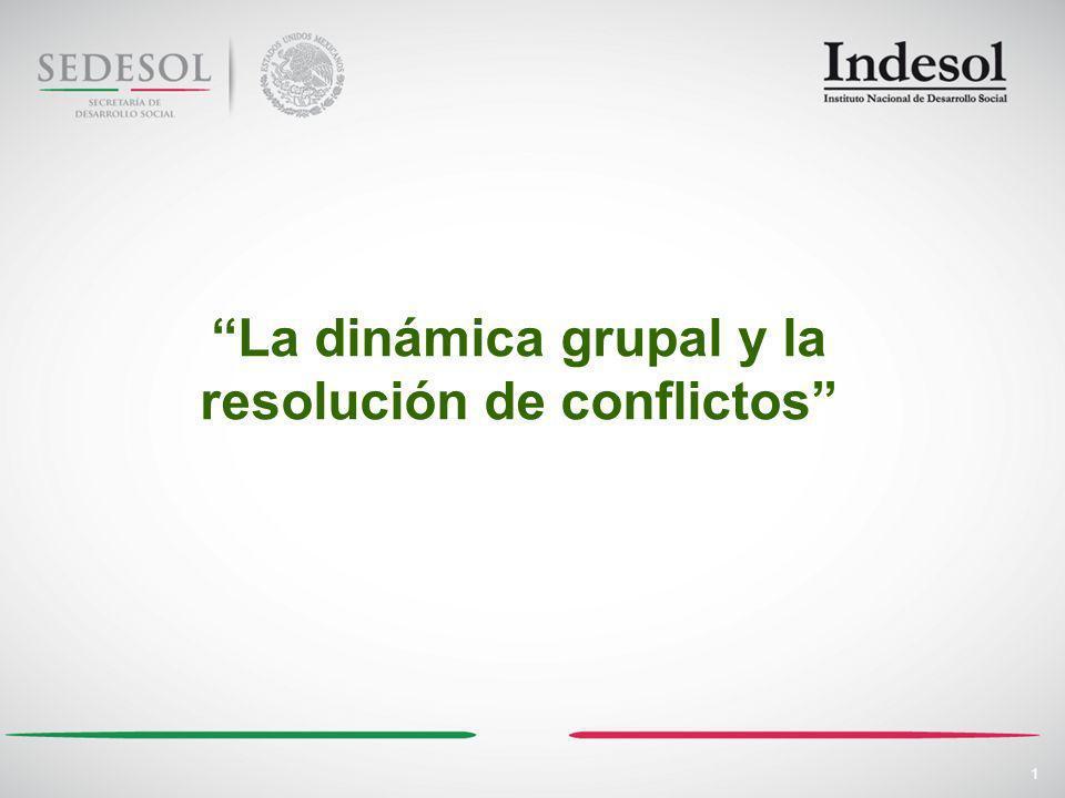 1 La dinámica grupal y la resolución de conflictos