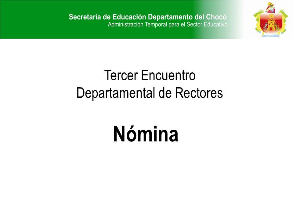 Tercer Encuentro Departamental de Rectores Nómina