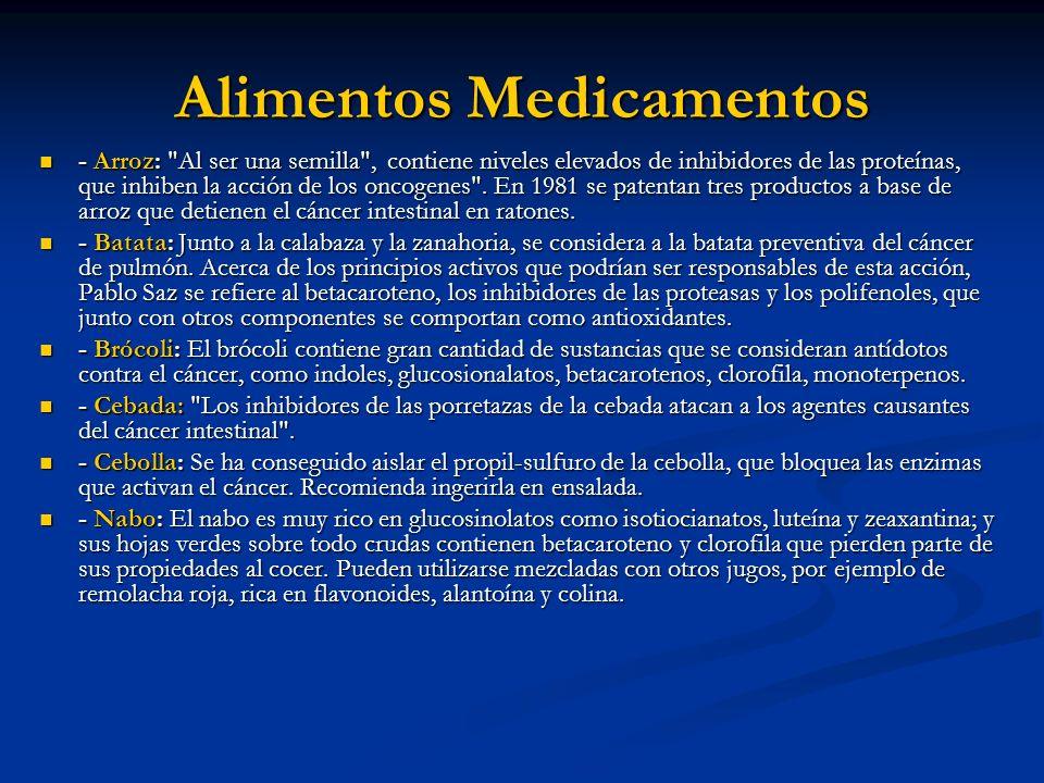 Alimentos Medicamentos - Arroz: