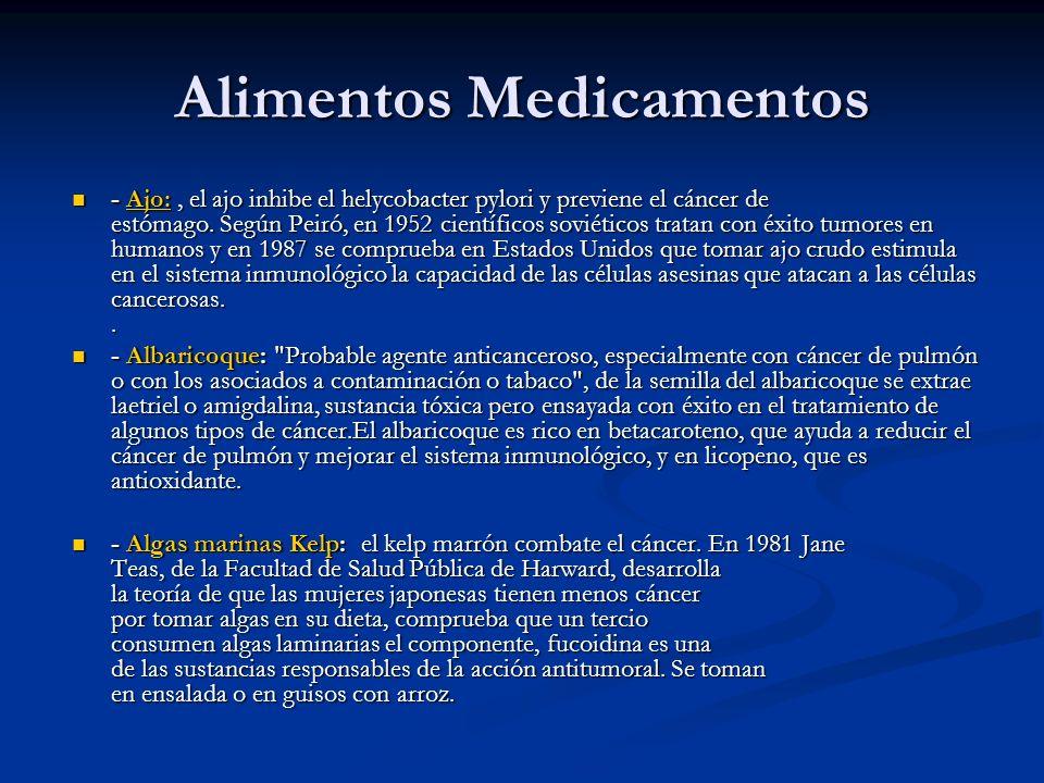 Alimentos Medicamentos - Ajo:, el ajo inhibe el helycobacter pylori y previene el cáncer de estómago. Según Peiró, en 1952 científicos soviéticos trat