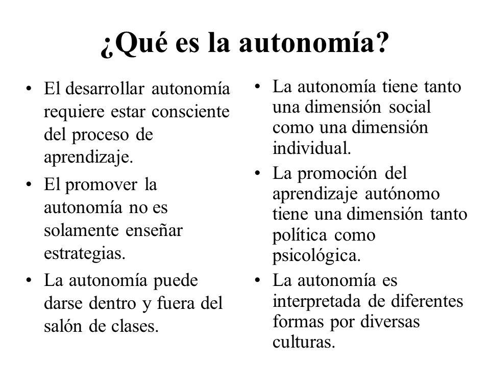 ¿Qué es la autonomía.