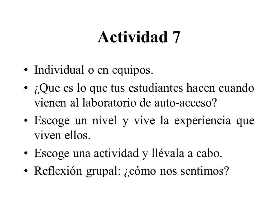 Actividad 7 Individual o en equipos.