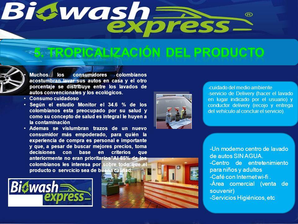 Muchos los consumidores colombianos acostumbran lavar sus autos en casa y el otro porcentaje se distribuye entre los lavados de autos convencionales y los ecológicos.
