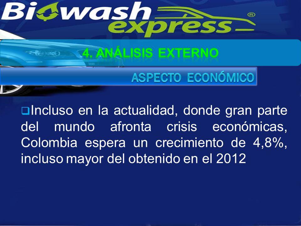 Incluso en la actualidad, donde gran parte del mundo afronta crisis económicas, Colombia espera un crecimiento de 4,8%, incluso mayor del obtenido en el 2012