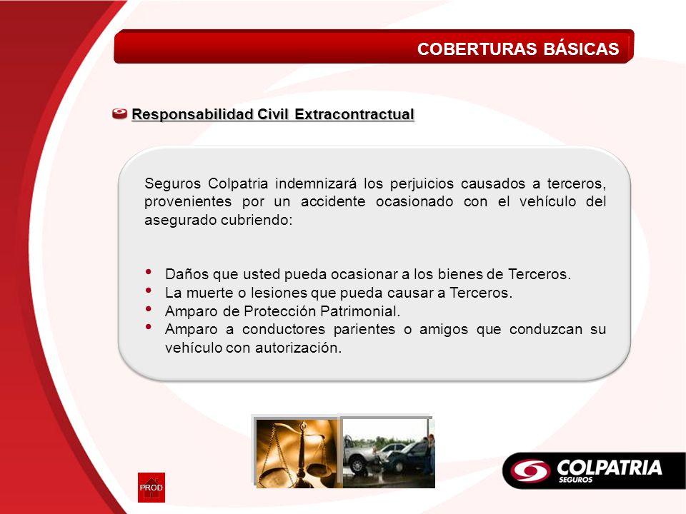 Responsabilidad Civil Extracontractual Responsabilidad Civil Extracontractual Daños que usted pueda ocasionar a los bienes de Terceros. La muerte o le
