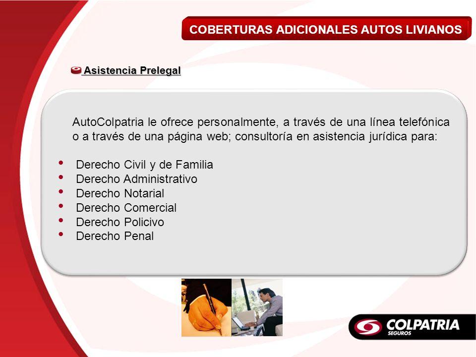 Asistencia Prelegal Asistencia Prelegal AutoColpatria le ofrece personalmente, a través de una línea telefónica o a través de una página web; consulto