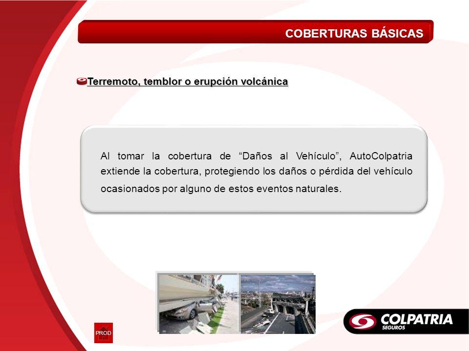 Al tomar la cobertura de Daños al Vehículo, AutoColpatria extiende la cobertura, protegiendo los daños o pérdida del vehículo ocasionados por alguno d
