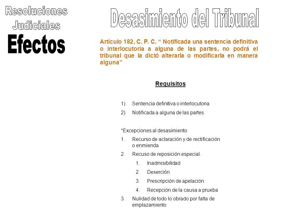 Artículo 182, C. P. C. Notificada una sentencia definitiva o interlocutoria a alguna de las partes, no podrá el tribunal que la dictó alterarla o modi
