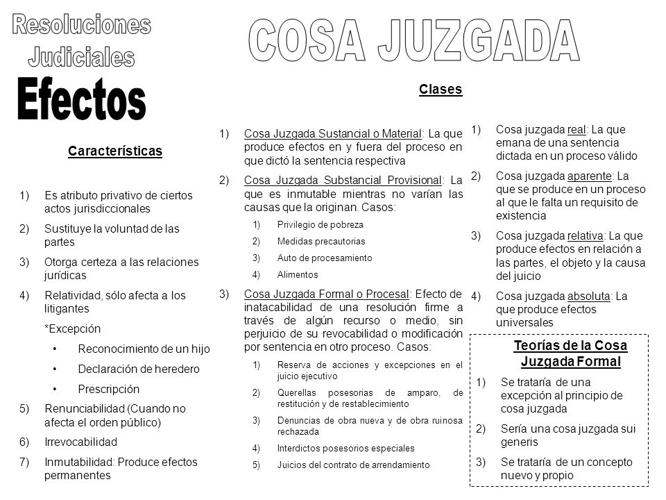 Características 1)Es atributo privativo de ciertos actos jurisdiccionales 2)Sustituye la voluntad de las partes 3)Otorga certeza a las relaciones jurí