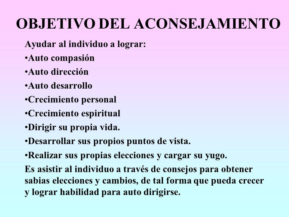 CARACTERÍSTICAS DEL CONSEJERO 1.Profundo amor, aceptación y respeto.